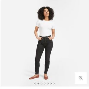 Everlane High Rise a Skinny Button Fly